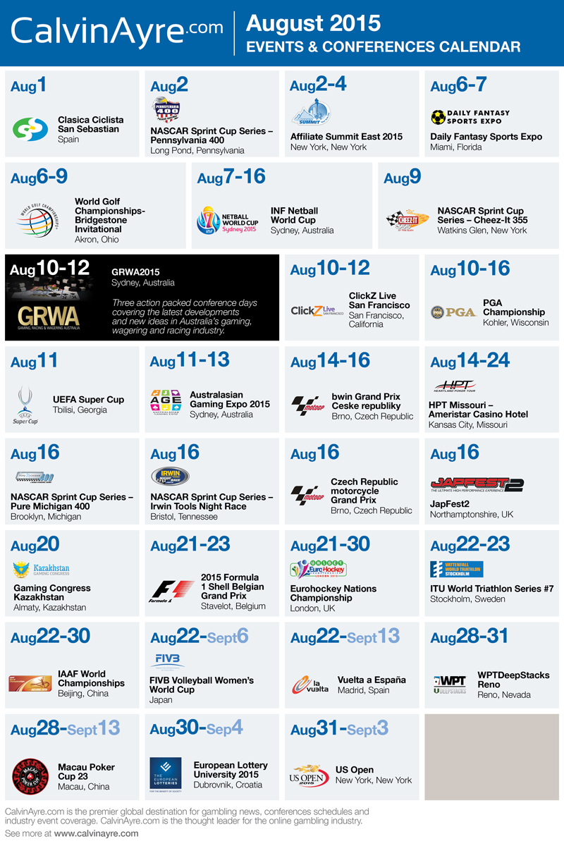 CalvinAyre.com Featured Conferences & Events: August 2015