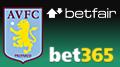 Aston Villa FC inks betting partnership threesome with Betfair, Bet365
