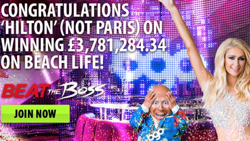 Hilton Beats The Boss at bgo! Walks Away With £3.8 MILLION From £10 Bet