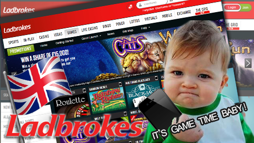 It's Game Time – Ladbrokes