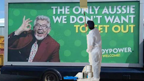Paddy Power destroys leaked Rolf Harris advert