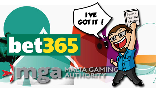 bet365 awarded a Sports Betting licence by the Malta Gaming Authority