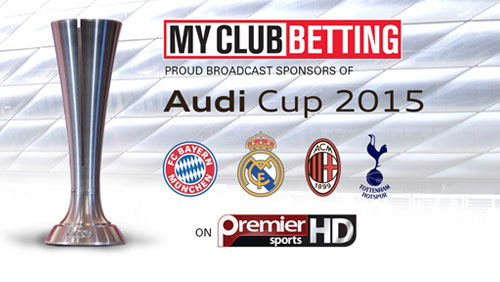 MYCLUBBETTING.COM announce Audi Cup partnership