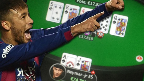 Neymar wins $20K with rare poker hand