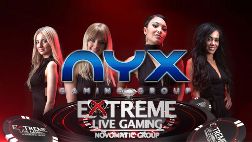 NYX Gaming Group Ltd launch live casino games with Extreme Live Gaming