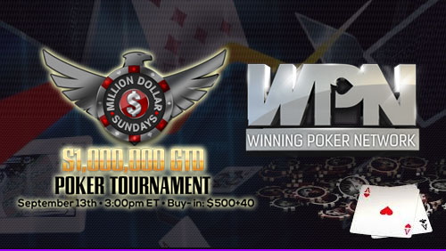 Winning Poker Network to Host 5 $1m GTD Events Throughout Sep & Oct 2015