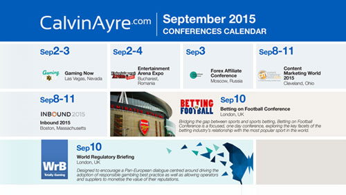CalvinAyre.com Featured Conferences & Events: September 2015