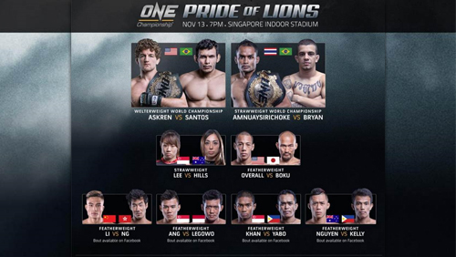 Five Exciting New Bouts Added To One: Pride Of Lions