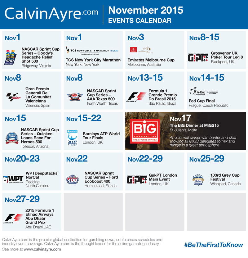 CalvinAyre.com Featured Conferences & Events: November 2015