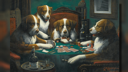 Coolidge Poker Game Dog Painting Sells for $658k, But Why?