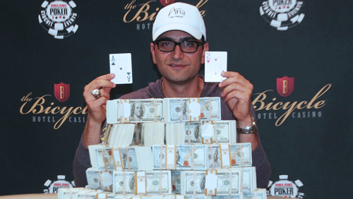 Antonio Esfandiari Wins His First WSOPC Gold Ring at The Bike
