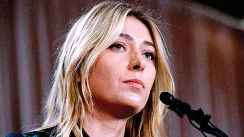 Maria Sharapova failed doping test at Australian Open