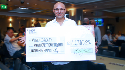 Poker player strikes lucky in Leicester Square Triggering a Huge Jackpot Win of Over £82k
