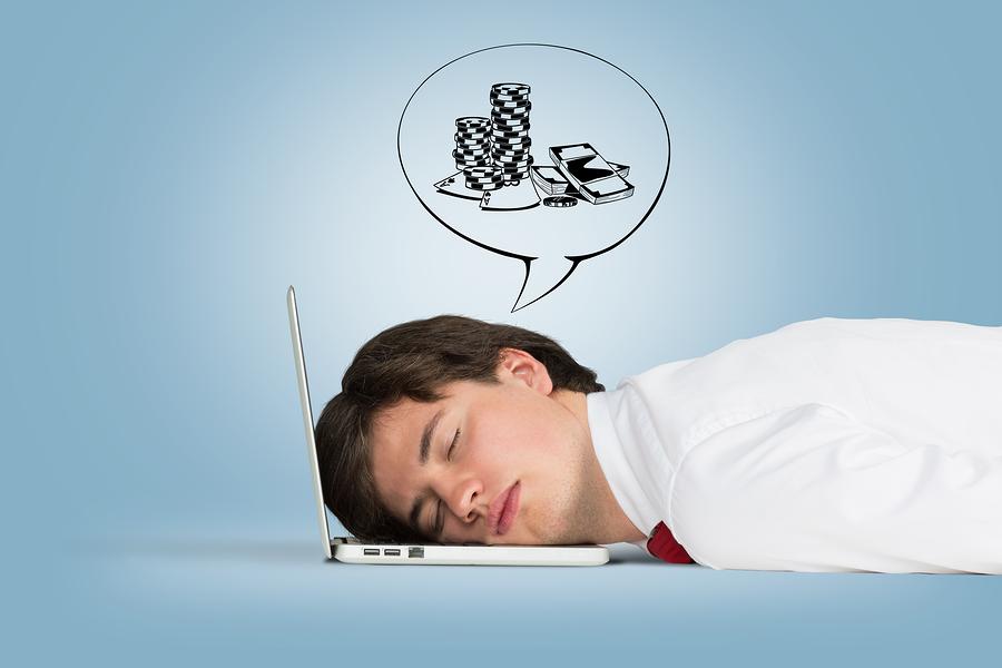 Man Sleeping On The Laptop