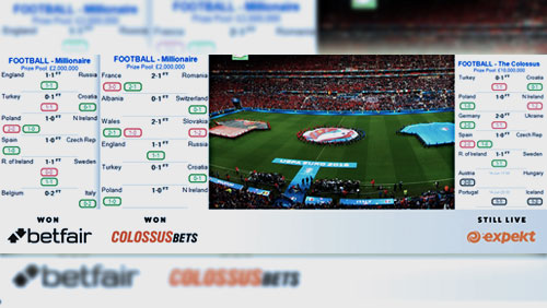 First two Colossus Bets 'Millionaire' Pick 6 pools of Euro 2016 are won and players now close in on the £10,000,000 Colossus