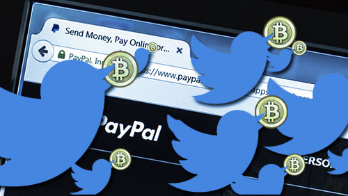 Bitcoin wallet lets users pay via Twitter as cloud storage provider ditches Paypal feature