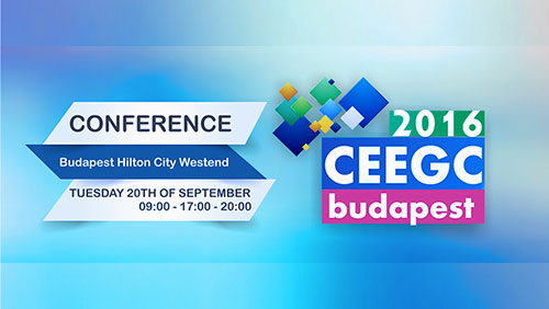 CEEGC 2016 Budapest - Early Bird Ticket period extended and preferential rates during the conference at the official hotel