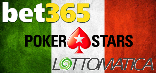 Bet365, PokerStars, Lottomatica top Italy's online sports, poker and casino charts