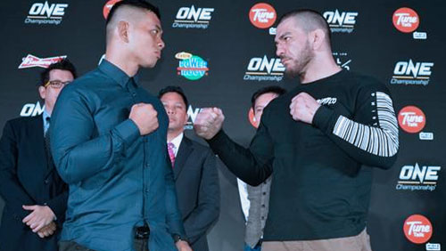 "Main Event Fighters Ev ""E.t."" Ting And Rob ""Ruthless"" Lisita Face-off At One: Unbreakable Warriors Press Conference"