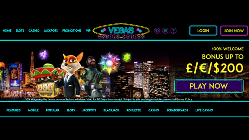 Vegas Mobile Casino re-launches its website