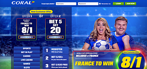Coral unveil new in-house sportsbook; GalaBingo add prop bets