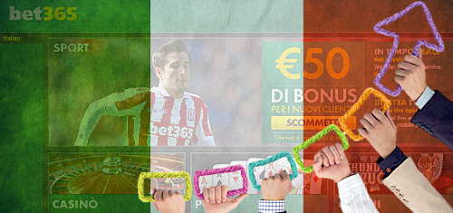 Italy's online sports betting growing twice as fast as land-based wagers