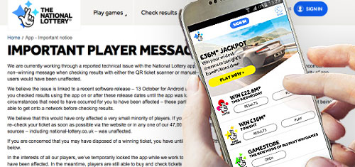 Camelot Pulls Wonky National Lottery App | Online Gambling News