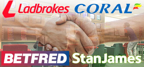 Betfred and Stan James to buy 359 Ladbrokes-Coral betting shops