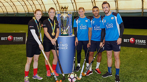 Leicester City Take On Gold Medal Winning Hockey Goalkeeper
