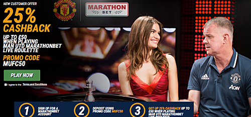 Marathonbet launch Manchester United-branded real-money online casino