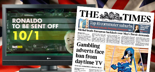 UK gov't mulling total ban on daytime TV gambling advertising