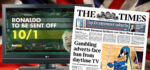 UK gov't mulling total ban on daytime TV gambling advertising