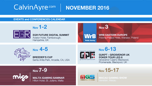 CalvinAyre.com Featured Conferences & Events: November 2016