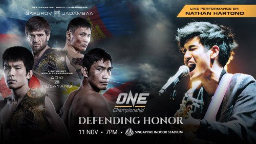 Nathan Hartono to Perform Singapore National Anthem at ONE: Defending Honor