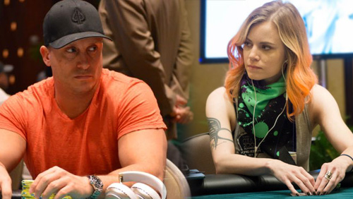 Cate Hall & Mike Dentale Elevate Twitter Spat to Poker Night in America