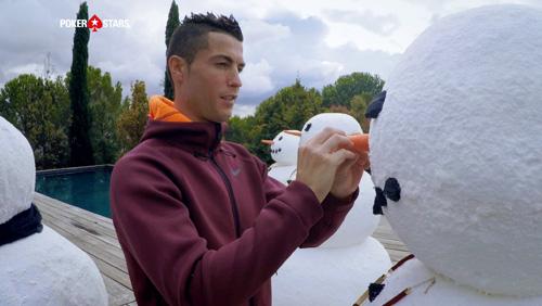 Cristiano Ronaldo and Dwyane Wade get into the festive spirit for Pokerstars #raiseit campaign