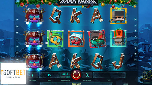 iSoftBet unleashes a Christmas cracker with new slot Robo Smash
