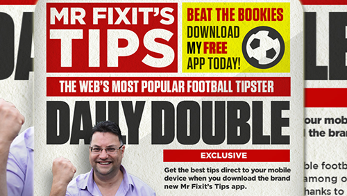 Mr  Fixit rolls out app for real-time betting tips