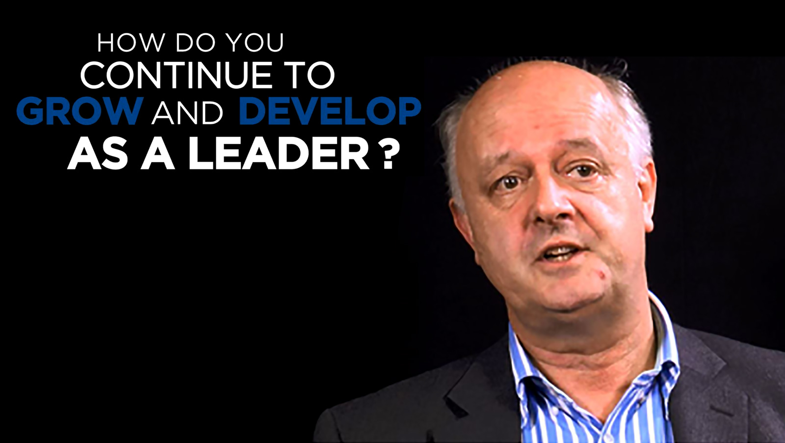 Mark Blandford: Shared Experince - What do you do to ensure you continue to and develop as a leader?
