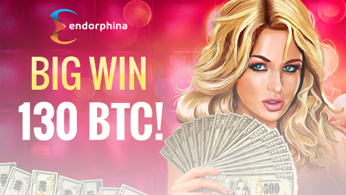 Staggering big win at bitcasino.io, huge payout by Endorphina's Jetsetter slot.