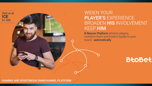 "BTOBET LAUNCHES ITS NEW WORLDWIDE CAMPAIGN TO SHOWCASE THE ""A.I. FOR PLAYERS"" AT ICE 2017."