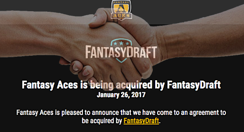 FantasyDraft acquire Fantasy Aces; Illinois, Iowa new DFS bills