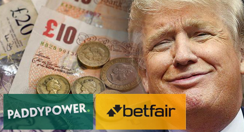 UK-listed gambling operator Paddy Power Betfair says the tiny hands of US President Donald Trump made a dent in its Q4 earnings