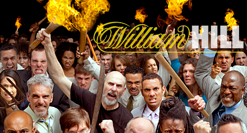 Torch-wielding William Hill staff lay siege to rivals' betting shops
