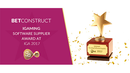 BC wins the iGaming Software Supplier award at IGA 2017
