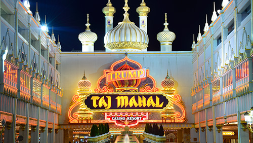 Firm sues shuttered Taj Mahal casino over 'Trump' signs