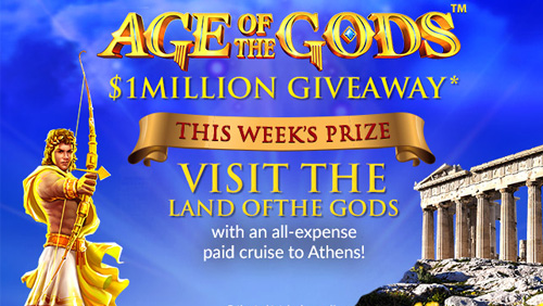 Mansion's Age of the Gods: $1M giveaway in association with Playtech