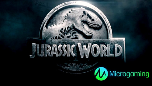 The park is open. Microgaming celebrates Jurassic World on Day 1 of ICE 2017