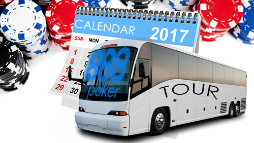 888Poker announces 2017 tour dates for 888Live and 888Local festivals