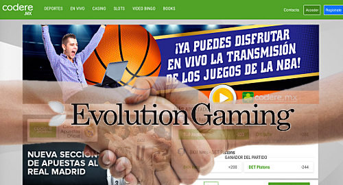 Codere picks Evolution Gaming for Mexican live online casino